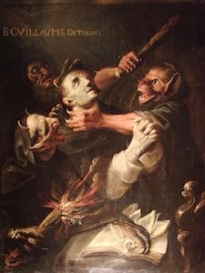 Der heilige Wilhelm,  von Dämonen gequält
